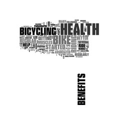 When in doubt bike for better health text word vector