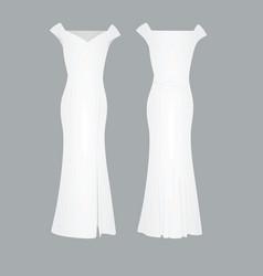 white elegant dress vector image