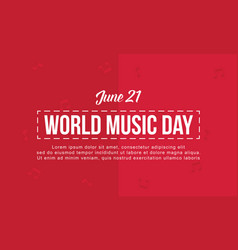 World music day background flat vector