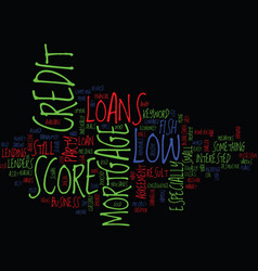 Z mortgage loans with low credit score text vector