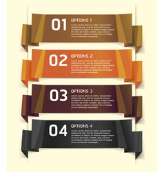 Brown Color Origami Style Number Options Banner vector image vector image