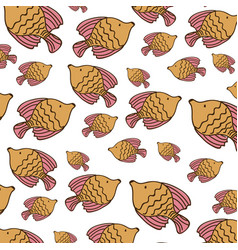 browns fishes background icon vector image vector image