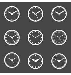 Clock Icon Set - Isolated vector image