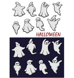 Cute Halloween ghosts vector image