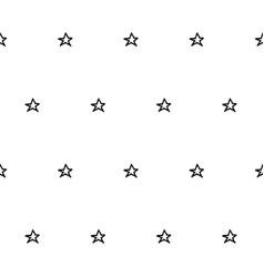 hand drawn stars seamless pattern vector image