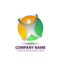 Human Technology Logo Icon Template vector image