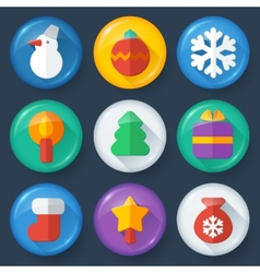 New year buttons in glossy flat style vector image vector image
