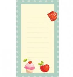 recipe card vector image vector image