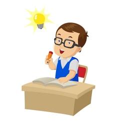 Cartoon Boy Study vector image vector image