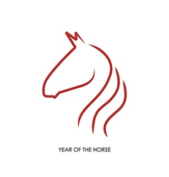 Chinese new year of the Horse abstract red shape vector image
