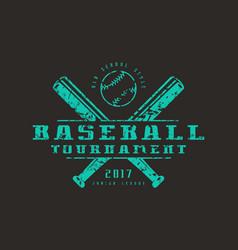Emblem of baseball tournament vector