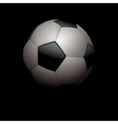 Football Soccer Ball on Black vector image vector image