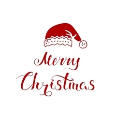 Merry Christmas and Hat vector image