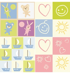 seamless child patterns vector image