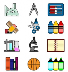 stationery icon vector image vector image