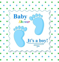 Sweet Baby Shower Card vector image