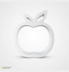 white apple icon vector image vector image