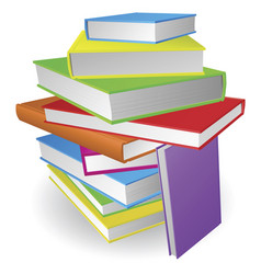 big stack of books vector image vector image