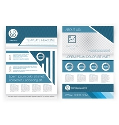 Brochure design template Front page and vector image vector image