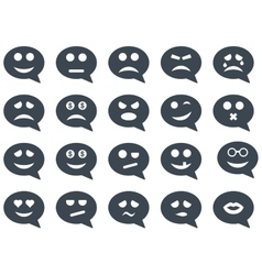 Chat emotion smile icons vector image