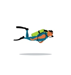 Diving sign vector image