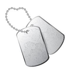 dog tag vector image