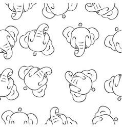 doodle of elephant animal style vector image