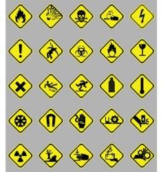 hazard signs set vector image vector image