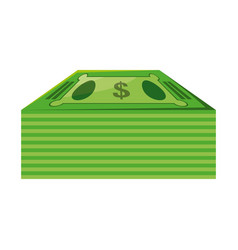 isolated green money bills vector image vector image