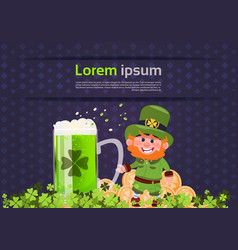 st patricks day card background template with vector image