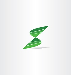 letter s logo green sign symbol icon vector image vector image
