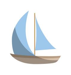 Sailboat ship isolated vector