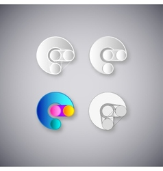 Abstract combination of letter e vector