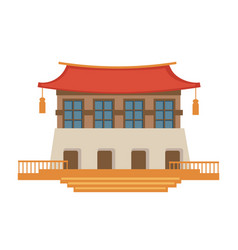 asian architecture chinese or japanese temple vector image