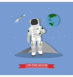 astronaut walking on the vector image
