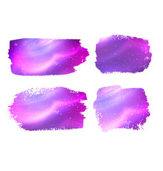 banners with glowing ultraviolet outer space vector image
