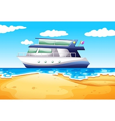 Beach and boat vector image