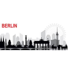 Berlin skyline silhouette vector
