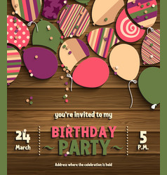 birthday party invitation card vector image