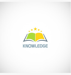 book star knowledge logo vector image