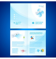Booklet catalog brochure folder air conditioner vector