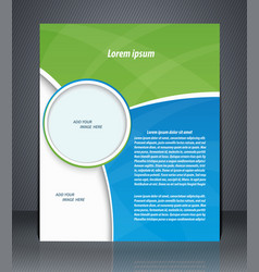 business brochure magazine cover flyer vector image