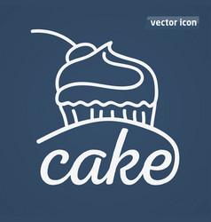 cake hand drwan vector image