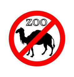 Camel in zoo prohibited vector image