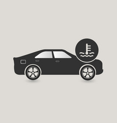 car cooling system icon vector image