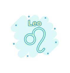 cartoon leo zodiac icon in comic style astrology vector image