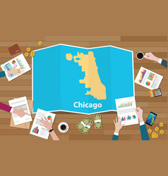 Chicago usa united states of america city region vector