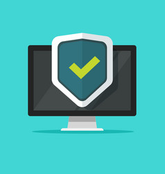 computer security flat vector image