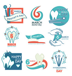 dentist day professional medical holiday isolated vector image