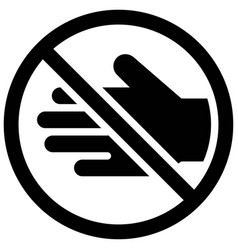 do not touch sign solid style icon vector image